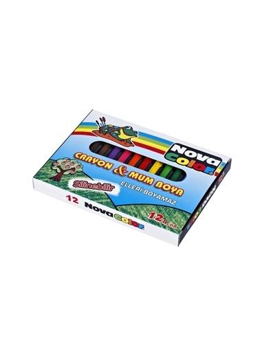 Nova Color Nova Color Crayon Mum Boya 12 Renk Kısa Boy Beyaz